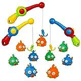 Centro de juegos de agua, Set de juguetes para playa, baño juguetes, juegos de caña de pesca flotante juguetes Niñas Niños para 3 4 5 6 años de edad, 12 pcs
