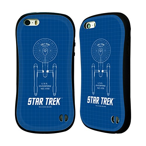 Iphone Trek Bei 5 Star (Offizielle Star Trek USS Enterprise NCC-1701 Linienschiffe TOS Hybrid Hülle für Apple iPhone 5 / 5s / SE)
