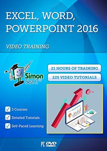 Simon Sez IT Office 2016 Training 2016 21 Stunden Excel 2016, Powerpoint 2016 und Word 2016 Selbststufe, Übungsdateien enthalten