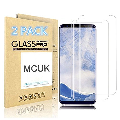 MCUK [2er Pack] Galaxy S9 Plus Displayschutzfolie, [Fall Freundlicher] Anti-Fingerprint blasenfrei 9H Härte Kratzfest Premium gehärtetes Glas Displayschutzfolie für Samsung Galaxy S9 Plus, Farblos Samsung Blast