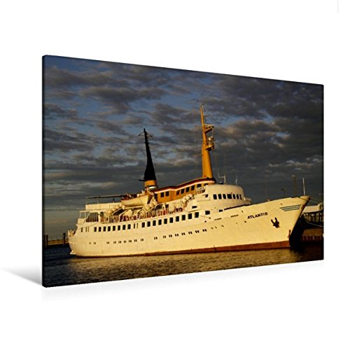 Calvendo Premium Textil-Leinwand 120 cm x 80 cm quer, Mit der Atlantis nach Helgoland | Wandbild, Bild auf Keilrahmen, Fertigbild auf echter Leinwand, Leinwanddruck Natur Natur