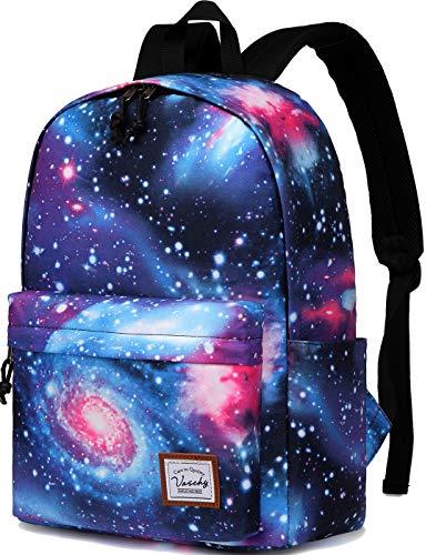 Schulrucksack für Teenager, Vaschy Galaxy Rucksack Wasserabweisend Mode Rucksackrucksack passt 15.6 Zoll Laptop