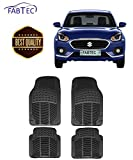 #9: Fabtec Car Foot Mat PVC Rubber Floor Mat (Black) (Set of 4) (Dzire 2018)