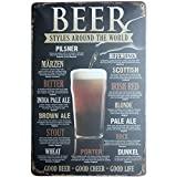 iTemer Metal Advertising Wall Sign Beer around the world Tin Sign Retro Vintage Advertising Enamel Wall Plaque Adornment