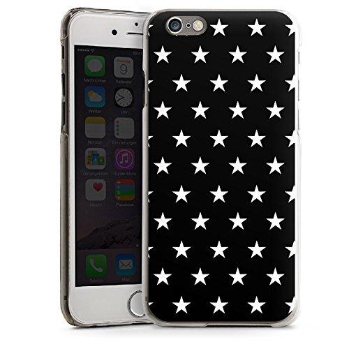 Apple iPhone 5s Housse Étui Protection Coque Petite étoile Noir et blanc Motif CasDur transparent