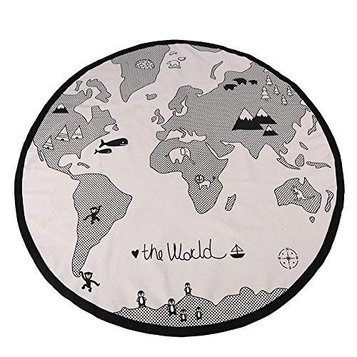 Alfombra para jugar al bebé, 135cm Mapa del mundo de la aventura...