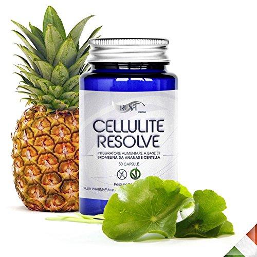 Cellulite Resolve | suplemento anti celulitis y para adelgazar en capsulas | anticelulitico pastillas de Bromelina+Centella | tratamiento reductor,adelgazante,quemagrasas | - piel naranja (nunca mas)