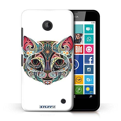 Kobalt® Imprimé Etui / Coque pour Nokia Lumia 630 / Chat conception / Série Animaux décoratifs Chat