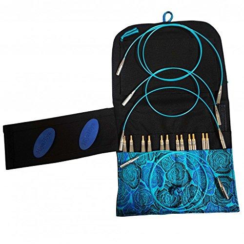 Kit complet d'aiguilles à tricoter circulaires interchangeables hiyahiya - sharp 5
