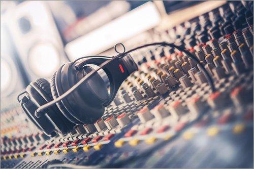 Holzbild 120 x 80 cm: DJ Equipment von Editors Choice