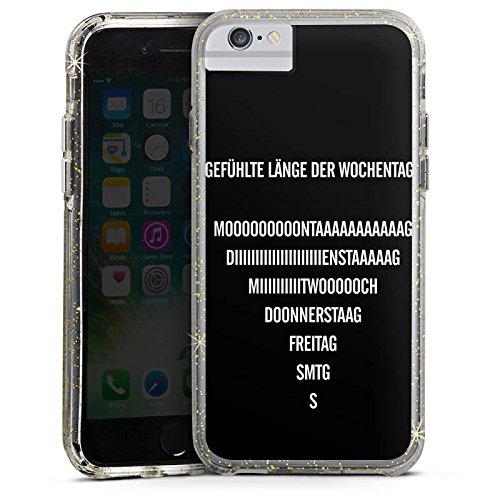 Apple iPhone 8 Bumper Hülle Bumper Case Glitzer Hülle Wochenende Vie Leben Bumper Case Glitzer gold