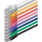 1aTTack CAT5 UTP Netzwerk-Patch-Kabel 1m mit 2x RJ45 Stecker Set (10 Stück, 10 Farben)