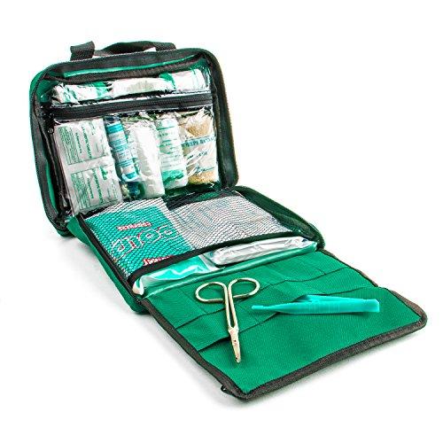 The Body Source Botiquín de Primeros Auxilios de 90 piezas con hielo, kit de lavado de ojos y manta de emergencia