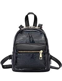 Tomtopp Shining Women PU Stone Pattern Backpacks Gorgeous Shoulder Mini Casual Bags