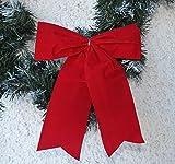 Elegante und auffallende Rote wetterfeste Dekoschleife aus Kunstsamt für Weihnachten und Andere Feierlichkeiten