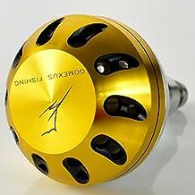 Gomexus Power Knob 45mm Para Penn Shimano Daiwa Okuma Avet Reels Manija Super Ligero y Suave, ADECUACIÓN DIRECTA para Shimano B Daiwa L, APAREJO DE PERFORACIÓN para Spinner Acima de 5000