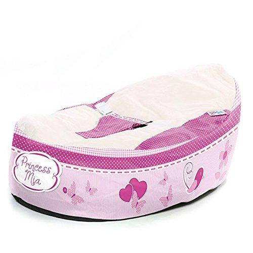Gaga Cuddlesoft Bean Bag für Babys, Prinzessinen-Design, Rosa