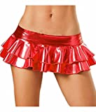 Femmes Brillant Métallique liquide mini jupe courte