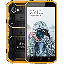 Teléfono Movil Resistente, EL W9 IP68 Impermeable Antigolpes Smartphone, 6.0