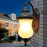 YHJ lámpara de pared De estilo europeo, luces de jardín al aire libre Jardín de la pared lámpara de pared lámpara al aire libre impermeable balcón Villa revestimiento de pared