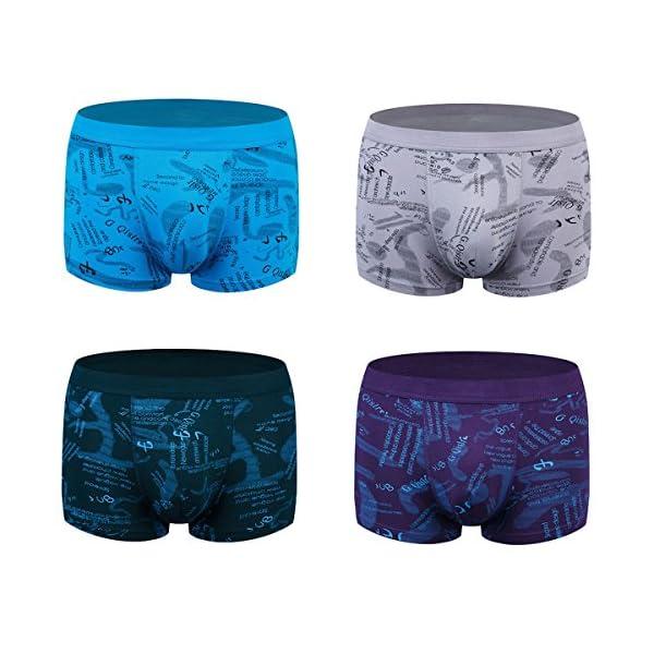 wirarpa Bóxers para Hombre Pack de 4 Ropa Interior Microfibra Calzoncillos Underwear