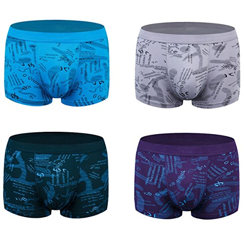 wirarpa Mens Underwear Trunks 4 Pack Micro Modal Boxers Shorts Gents Microfibre Underpants