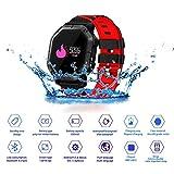 JASZHAO IP68 Wasserdichte Bluetooth Smart Watch, Multiple Sports Modes/Running/Cycling/Schwimmen/Fitness/Herzfrequenz-Monitore/Für Android IOS,D