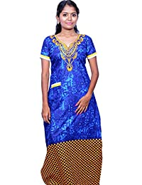 AISNIGHA Womens a deep 5093 | Womens Soft and Comfortable Nightgown for Straight-Fit | Ladies Nighty Set | High-Quality Nightwear for Everyday Use – Large | XL | XXL | stylish piece of ladies nighty that is ultra-soft and durable | Made from best quality materials | comes under best price