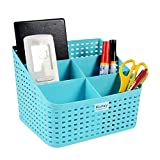 #10: Premium Quality Tapered hollow basket woven Storage box / organizer / bin / Basket for Kitchen, Utility, Living room, kids room, Bedroom or Bathroom or office storage basket (Color May Vary) (17 X 16 X 14 CM)