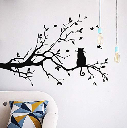 Xbwy Neue Katze Wandaufkleber Baum Zweig Wandaufkleber Für Wohnzimmer Schlafzimmer Hintergrund Aufkleber Home Decor Wall Decor Kinderzimmer -