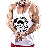 623457f53205 Cabeen Uomo No Pain No Gain Canotterie per Bodybuilding per Allenamento  Muscoli Tank Top