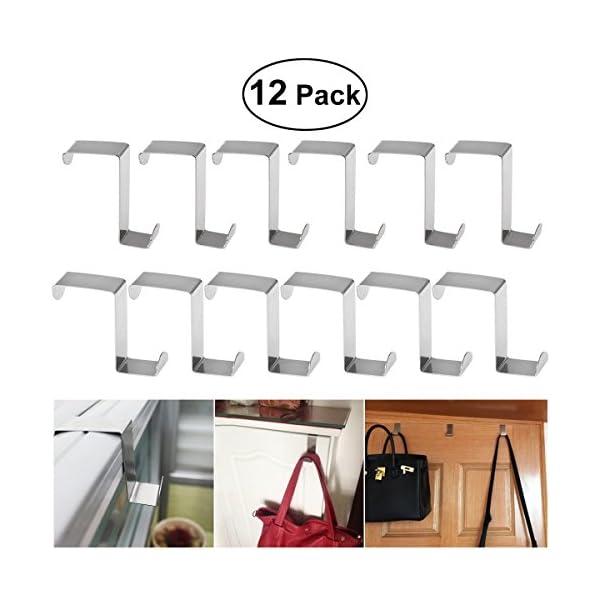 Accappatoio BESTOMZ 12 Pezzi Gancio per porte a Forma di Z in Acciaio Inox per Asciugamani