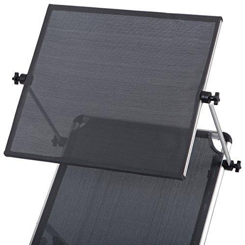 Ultranatura Aluminium Sonnenliege Nizza mit Dach, grau, 193 x 67 x 32 cm - 4