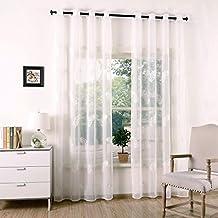 x visillo bordado para ventanas voile gasa de ojetes para cortinas lino