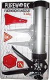 Fugendichtungsset - stabile Kartuschenpresse / Silikon Pistole aus Aluminium mit Zubehör 6-teilig