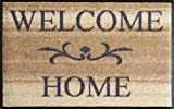 Wash+Dry 009610 Fußmatte Welcome Home, 50 x 75 cm, beige