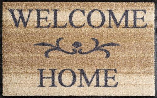 WASH+DRY - ALFOMBRA WELCOME HOME BEIGE 50X75  BEIGE