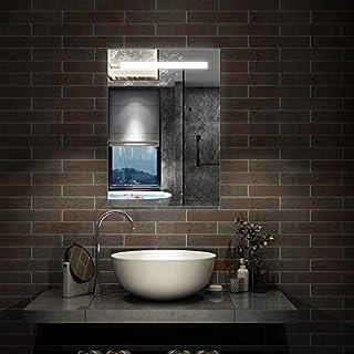 Aica 600 x 800mm Vertical LED Illuminated Bathroom Mirror Light Touch Sensor Wall Vanity Mirror