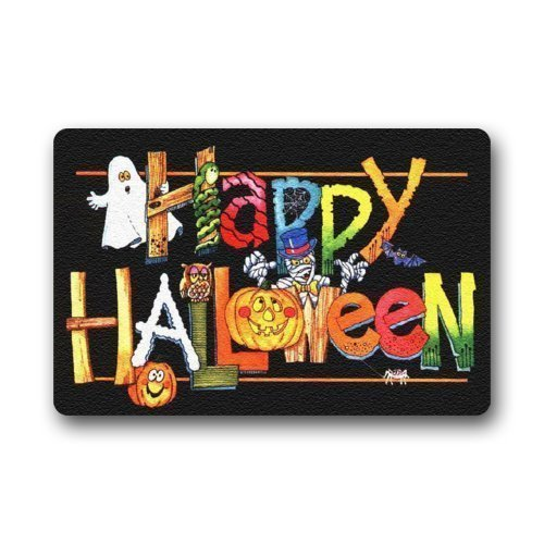 HujuTM Custom Machine-Washable Door Mat Halloween Indoor/Outdoor Doormat 23.6 * 15.7