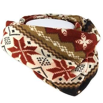 Brown & Dark Orange - Checkered Star - Multi-Functional Twisted Tube Head Wear - Sports Tube - Neckerchief - Headband - Scarf - Hairband - Mask