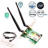 Ubit Wireless Network Card | 802.11 AC 1200Mbps Bluetooth Card | Wireless WiFi