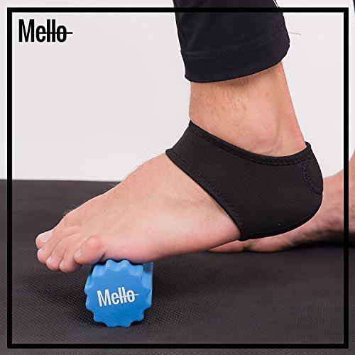 Fascite plantare 2in1da mello-foot Arch Support Wrap e schiuma rullo set-ideal Massaggiatore per piede sollievo (Plantari Fascite Plantare)