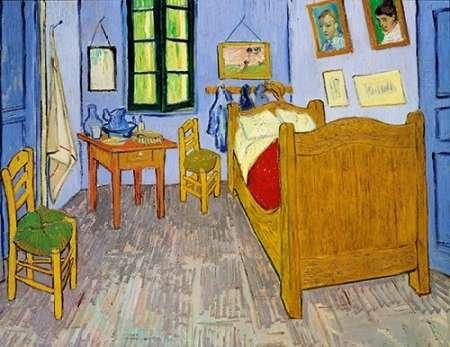 Feelingathome- imprimer-sur-toile-100%coton-Van-Gogh-Chambre-Arles-1889-cm62x81-affiche-reproduction-gravure-