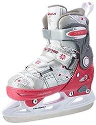 Nijdam - Patines para hockey sobre hielo (ajustables) plata plata Talla:29-32