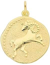 Gold 8 k ( 333 ) Sternzeichen Anhänger - Widder - Ø 18,2 mm