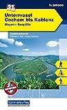 Outdoorkarte 21 Untermosel - Cochem bis Koblenz 1 : 35 000: Wandern, Rad, Nordic Walking. Mayen, Burg Eltz (Kümmerly+Frey Outdoorkarten Deutschland)