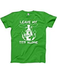 HotScamp Leave My Tits Alone Cow - Unisex Mens T-Shirt