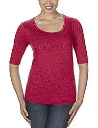 Anvil 6756L - T-shirt - Uni - Manches 3/4 - Femme