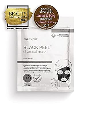BeautyPro BLACK DIAMOND black peel-off mask with activated charcoal (6 Applications/3 Sachets) by BeautyPro