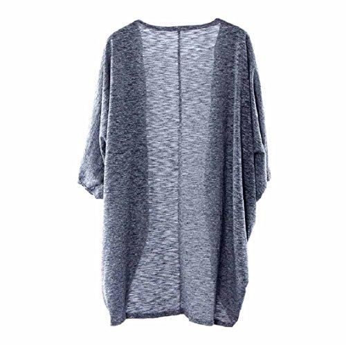 Vovotrade Dame-beiläufige Knit-Hülsen-Strickjacke-Mantel-Wolljacke der Frauen Gris